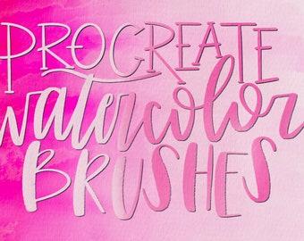 Procreate Brushes, Procreate Lettering, Procreate Watercolor, Procreate Lettering Brushes, Procreate Brush Pack, Procreate Brush Bundle