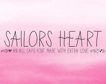 Cute Font, Craft Font, Hearts Font, Symbol Font, Sailors Font, Digital Planner, Digital Planning, Header Font, Display Font, Icon Font