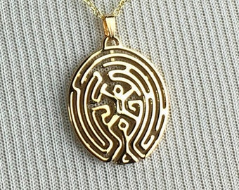 3D Printed Westworld Maze Pendant - Gold Plated Jewelry - Sci-Fi Jewelry - The Maze Necklace - 3D Printing