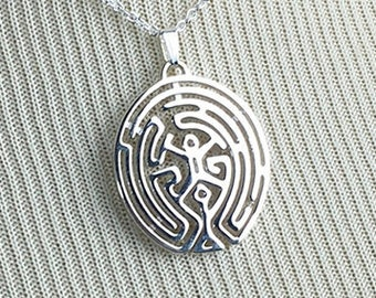 3D Printed Westworld Maze Pendant - Sterling Silver Jewelry - Sci-Fi Jewelry - The Maze Necklace - 3D Printing