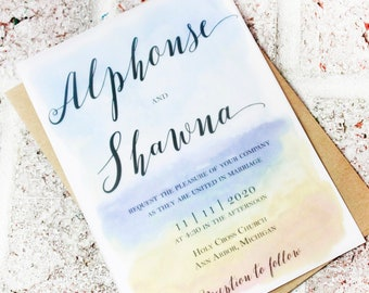 Vellum Overlay Wedding Invitation See Through