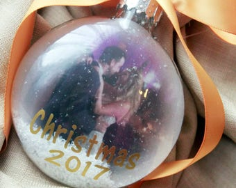 Christmas Photo Ornament, Our First Christmas ornament, baby's first Christmas, Ornament with picture, Mr and Mrs. christmas ornament