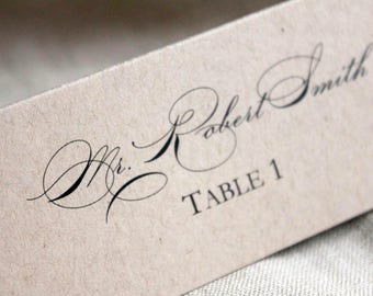 Rustic wedding place cards, Escort Card, recycled kraft place card set of 20, Eco Friendly stationary, event place card set, reception decor