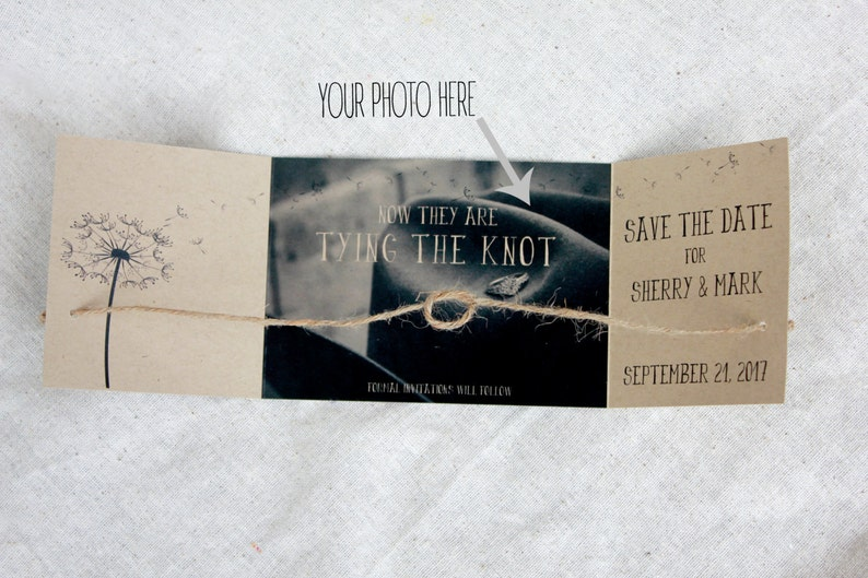 Rustic engagement announcement set Tying the knot Save the image 1