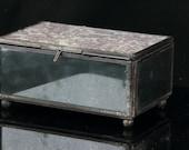Glass Trinket Box - Jewelry Box - Keepsake Box