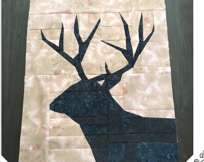 High Country Mule Deer. Quilt Pattern