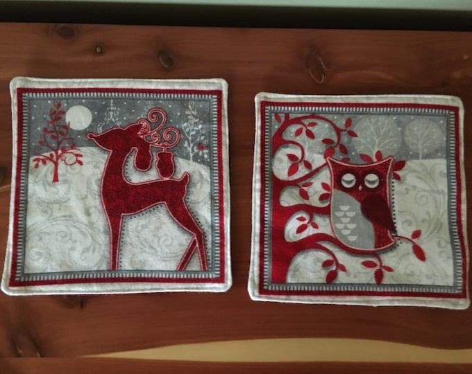 Festive Animal's snack mats