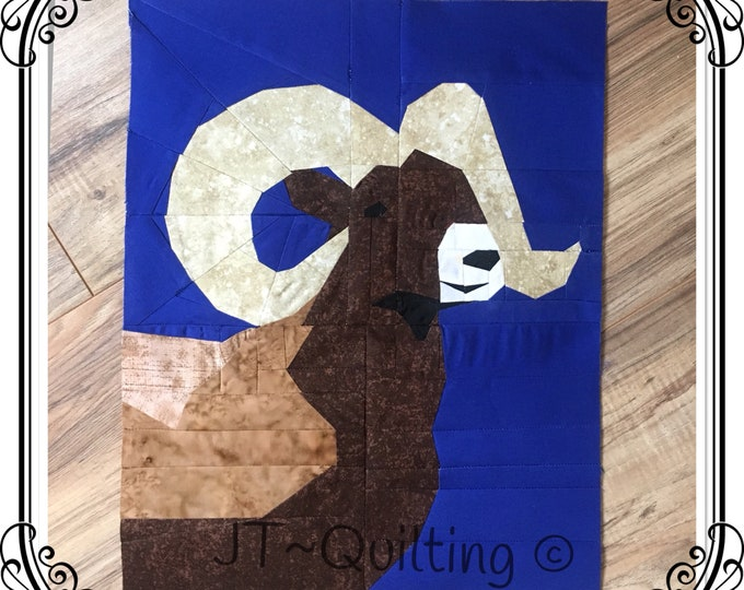 High Country Bighorn Sheep, Quilt Pattern.