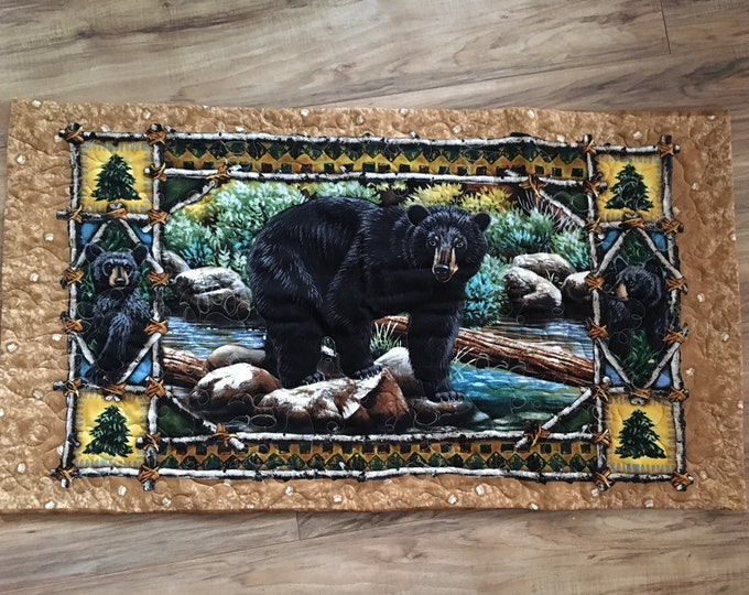 Mama Bear know's best. Table runner.