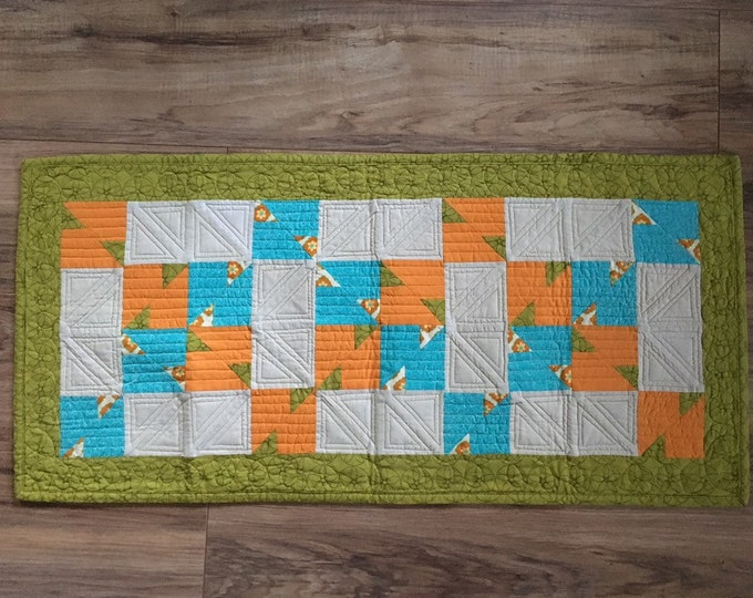 Orange Kiss, Modern Table Runner.