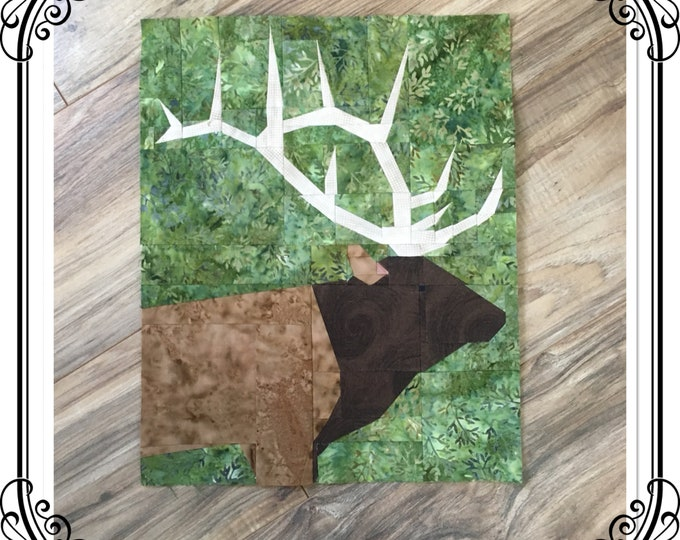High Country Bull Elk, Quilt Pattern.