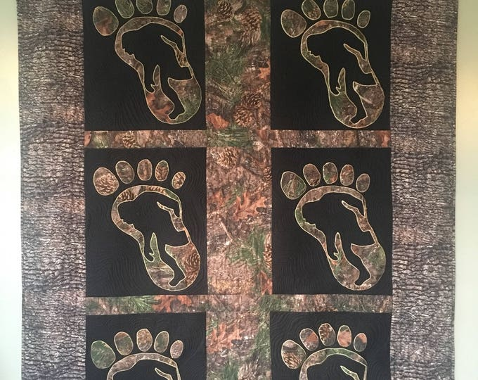 The Mysterious Bigfoot Quilt.