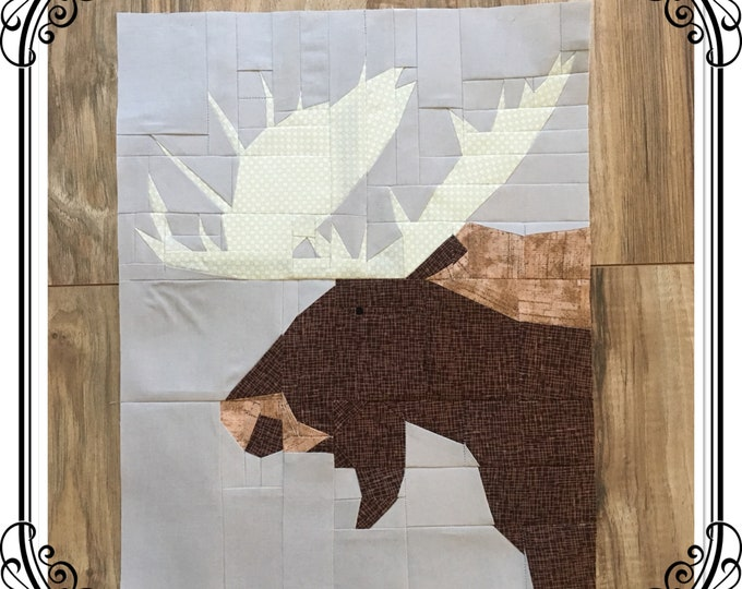 High Country Moose. Quilt Pattern