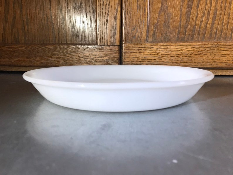 Milk Glass Fire King 10 Pie Plate