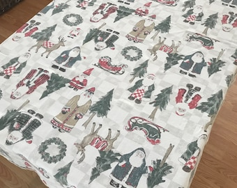christmas oval tablecloth retro christmas tablecloth vintage christmas tablecloth retro christmas vintage christmasholiday table linens