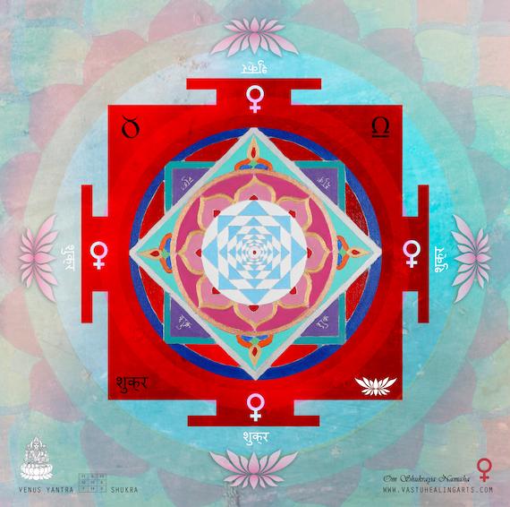 Sacred Geometry Planetary Yantras Spiritual Home Vastu Positive energy Healing Arts Sun Surya Yantra
