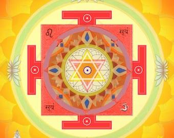 5 pieces of Yantra set - 10 yantras, Vastu Planetary Yantras, Yantra, Vastu, Jyotish, Vastu Healing Arts, Spiritual Art, Nine Planets