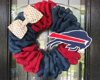 c553106b Buffalo bills wreath | Etsy
