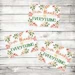 Thanksgiving Stickers - Give Thanks in Everything - Christian Stickers - Bible Inspired - Thanksgiving Autumn Fall - Fun Stickers