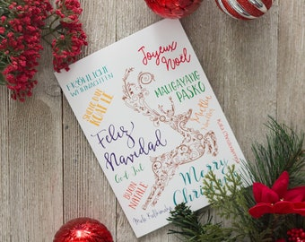 photograph relating to Merry Christmas in Different Languages Printable called Merry Xmas Alternate Languages Xmas About the Etsy