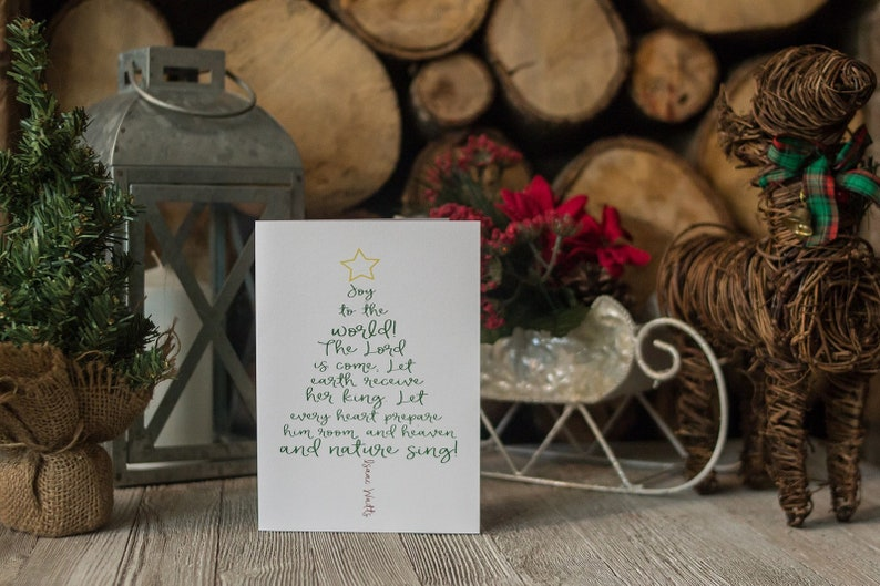 Joy to the World  Christmas Card  The Lord Is Come  Let image 0