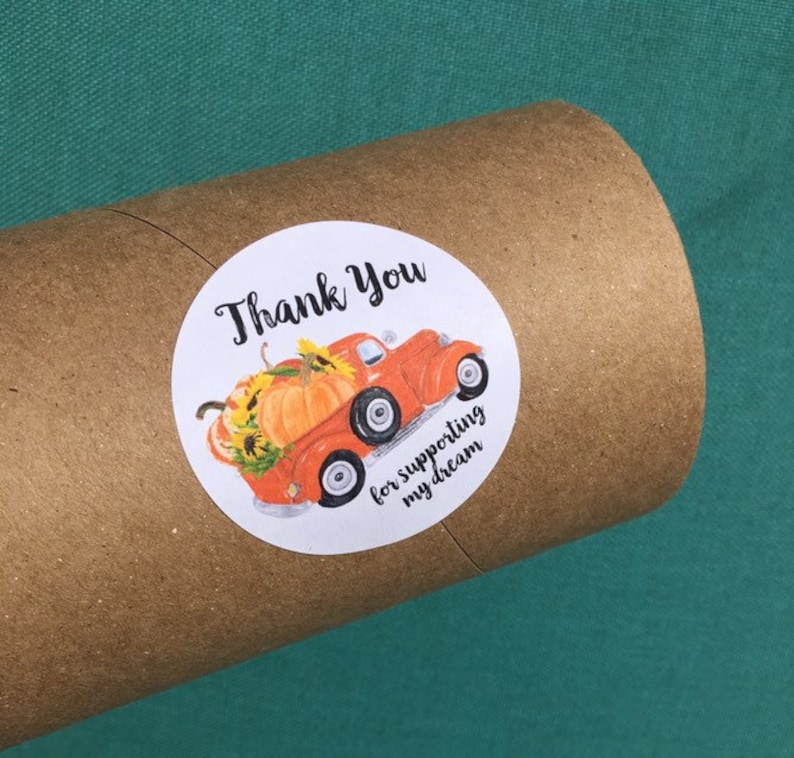 Fall Package Stickers  Thank You Stickers  Happy Mail image 0