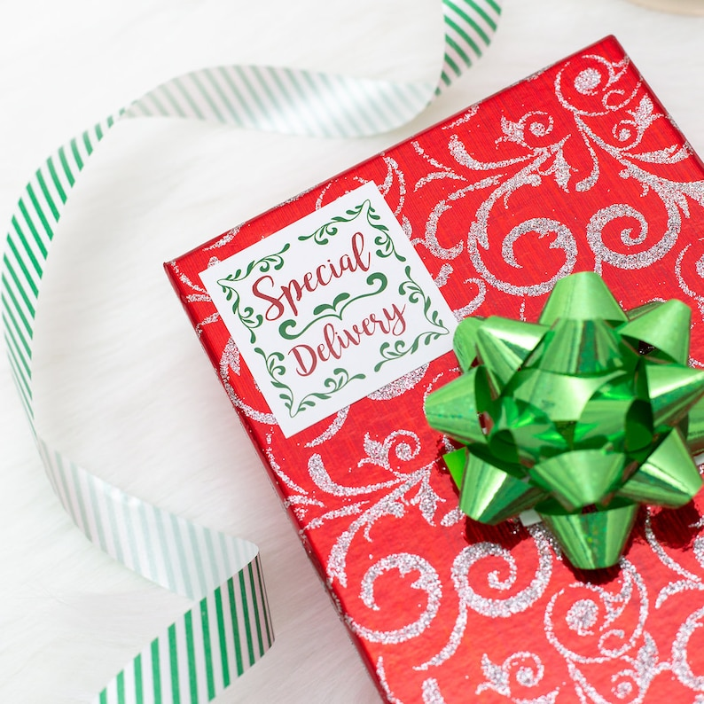 Christmas Stickers  25 Special Delivery Stickers  Holiday image 0