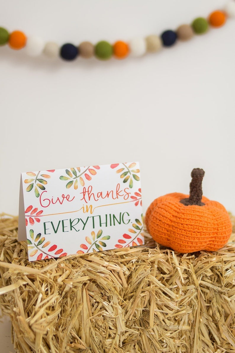 Fall Note Cards  Autumn Greeting Cards  1 Thessalonians 5:18 image 0