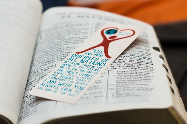 The Great Commission  Missions Bookmarks  Matthew 28:19-20  image 0