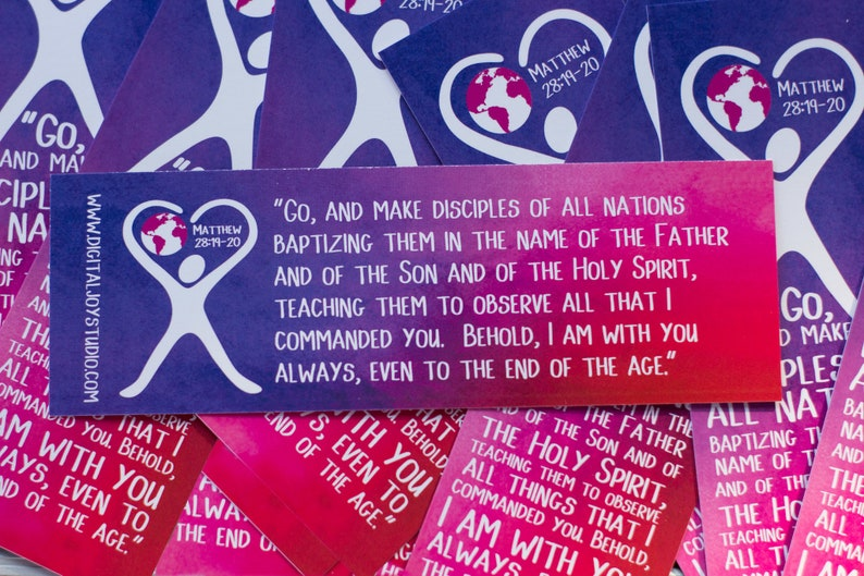Missions Bookmarks  Choose Quantity  The Great Commission  image 0
