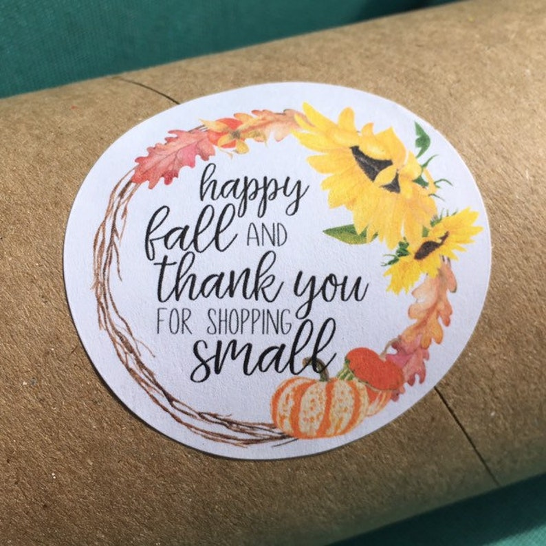 Fall Thank You Stickers for Happy Mail image 0