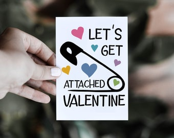 Let's Get Attached SVG Cut File for Valentine's Day Projects