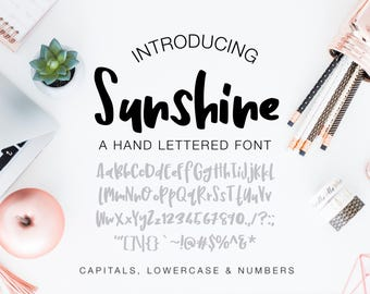Hand Lettered Font Sunshine