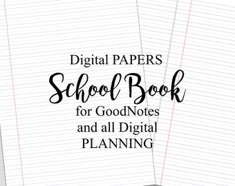 Digital Planner Pages for iPad GoodNotes SchoolBook