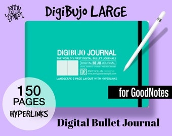 DigiBujo LARGE Digital Bullet Journal for GoodNotes with Hyperlinks On the iPad  Digital Planner with Bullet Dot Pages and Blank Pages