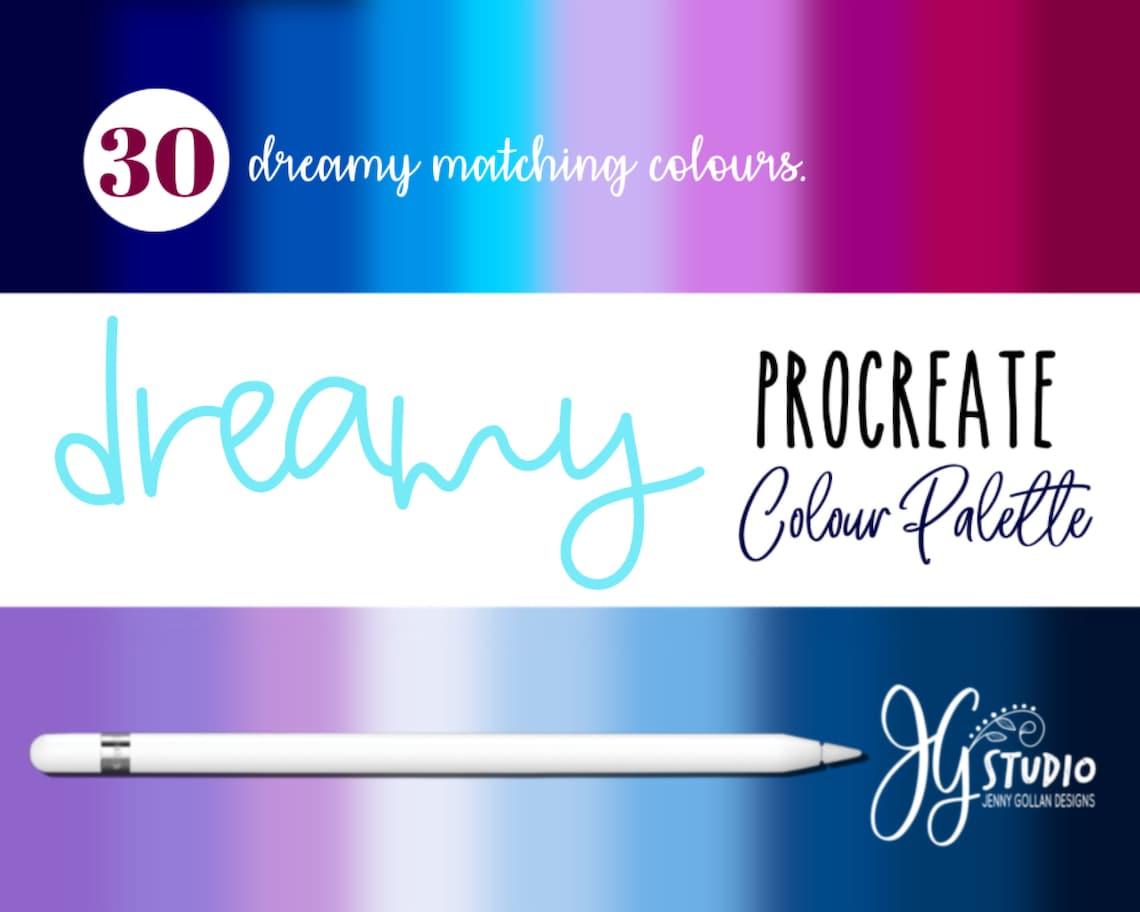 Procreate Colour Palette Gold Dreamy Colour Gradients for the image 0