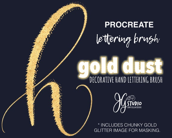 Procreate Brush Gold Dust Calligraphy Brush for Hand Lettering in the  Procreate App on iPad Pro