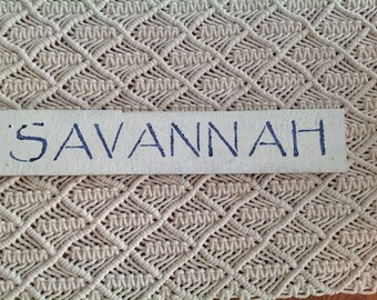 Savannah Sign, Georgia, Southern Charm