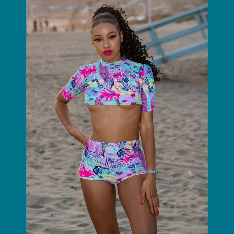 cd114c9f5a Two Piece Bathing SuitFestival Clothing Swimsuit Festival   Etsy