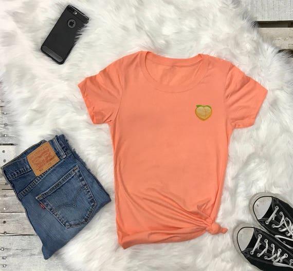 Peach Emoji | Peach Emoji Shirt | Peach Butt Tee | Peach Butt Funny Shirt |  Tumblr Shirt | Popular Tshirts | Peach T-shirt | Tshirt | Tee