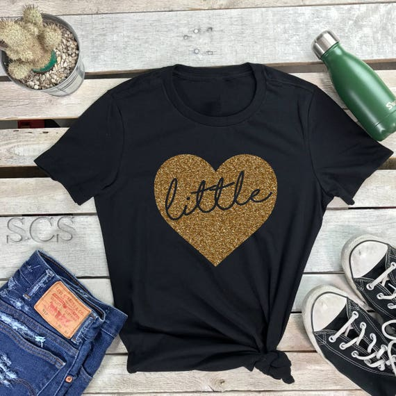 Big Little Reveal Shirts Women's Short Sleeve Crewneck T Shirt ,Big Little Love Gift Tee Sorority Glittle Family Shirts GGBig GBig Shirt