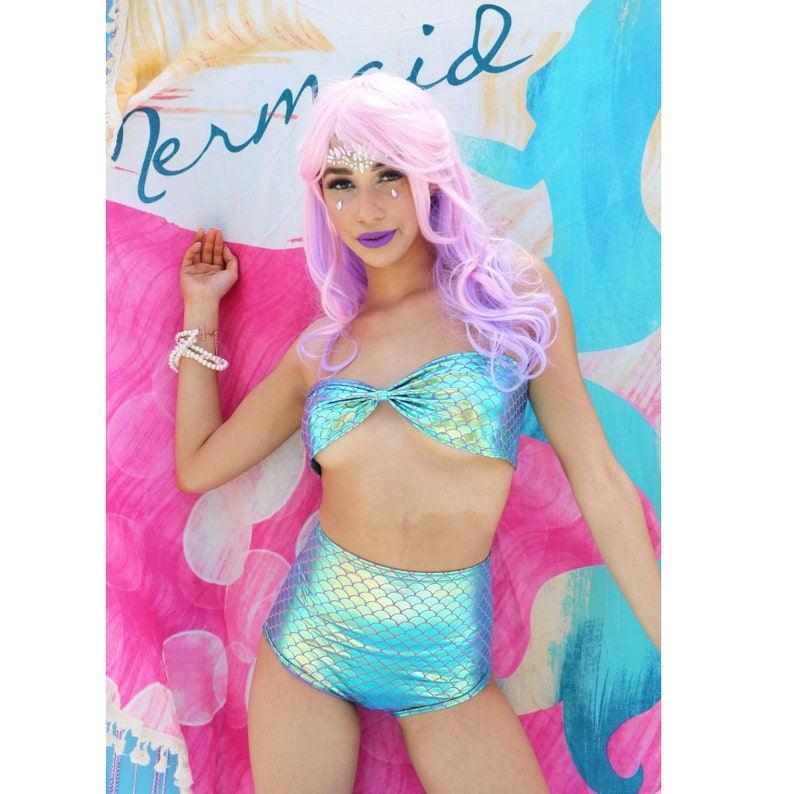 273505848d Festival Clothing Swimsuit Mermaid Scallop 2 Piece Bathing   Etsy