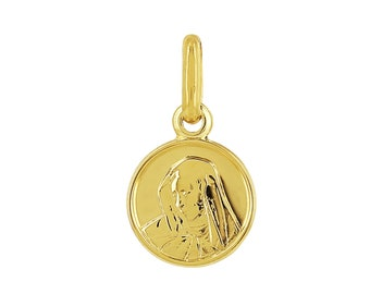 Solid yellow gold pendant 18 k 750/% map of Martinique with box included