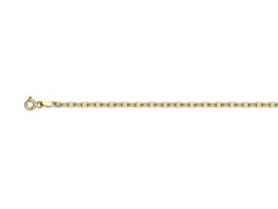 "Brand New 14k or Jaune 2 mm Italie Figaro Lien Chaîne Collier 16/"" 24/"""