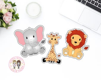 Jungle Die Cuts // Die Cuts // Planners // Scrapbooking // TN // Project Life // 3 Piece // Zoo // Animals // 250gsm cardstock