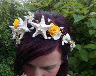 Starfish Seashell Crown