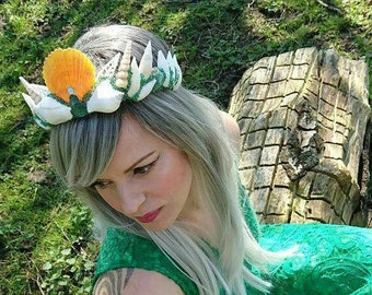 Green Crystal Mermaid Crown