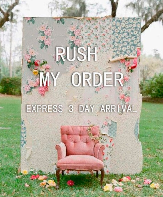RUSH ORDER for 1 dress Fee - Express 2-3 day arrival, includes 1 dress only