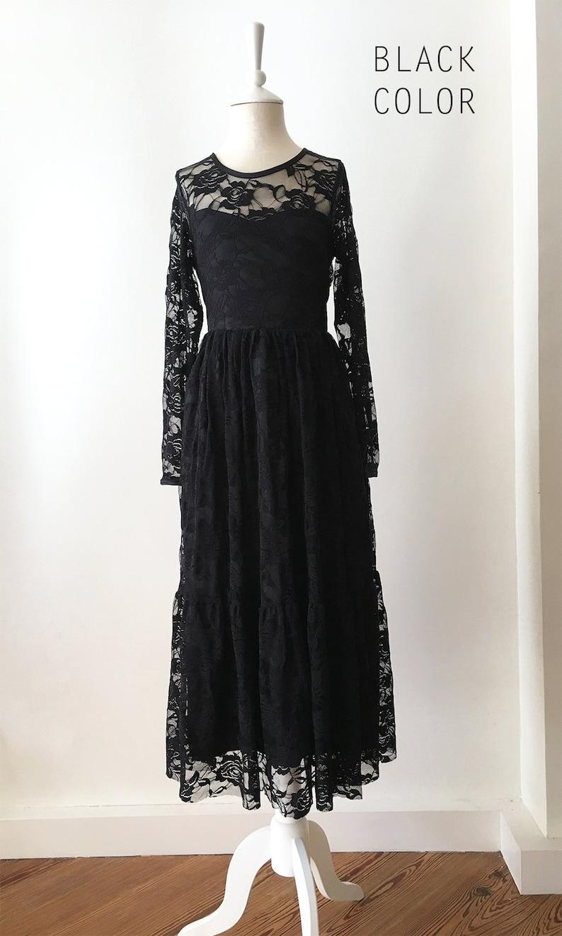 3428162d7 BLACK Lace Flower girl dress Boho flower girl dress BURGUNDY | Etsy