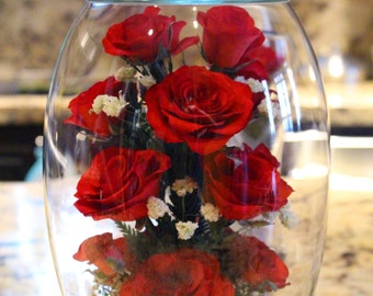 Eternity Roses LASTS 10+ YEARS, Personalized, REAL roses, Gifts for her,Valentine's Gift, Anniversary, Wedding, Couple Gifts, Mother's Day